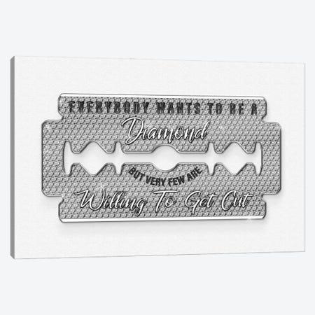 Diamond Razorblade Canvas Print #FAR8} by Frank Amoruso Canvas Print