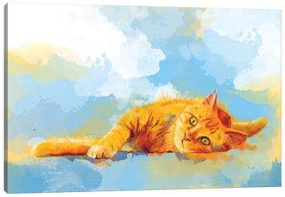 Cat Dream Canvas Art Print