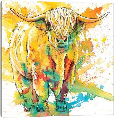 Highland Cow Canvas Art Print