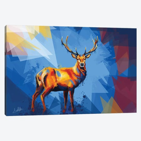 Deer in the Wilderness Canvas Print #FAS12} by Flo Art Studio Canvas Art
