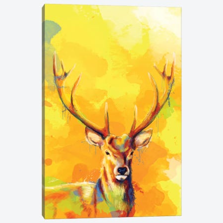 Forest King Canvas Print #FAS14} by Flo Art Studio Art Print