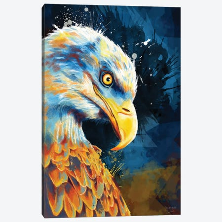 Eagle Eye Canvas Print #FAS15} by Flo Art Studio Canvas Art Print