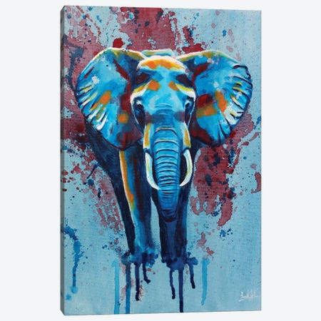 Here Stands The Elephant Canvas Print #FAS17} by Flo Art Studio Canvas Art Print