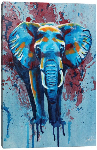 Here Stands The Elephant Canvas Art Print