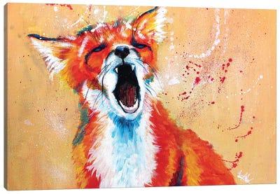 Sleepy Fox Canvas Art Print