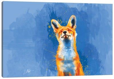 Happy Fox Canvas Art Print