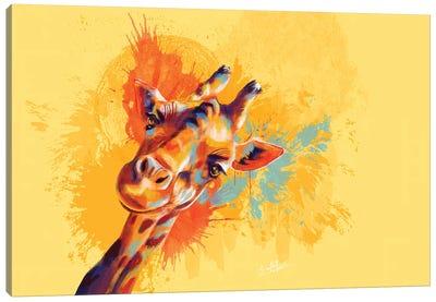 Hello Giraffe Canvas Art Print