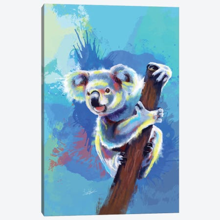 Koala bear Canvas Print #FAS34} by Flo Art Studio Art Print