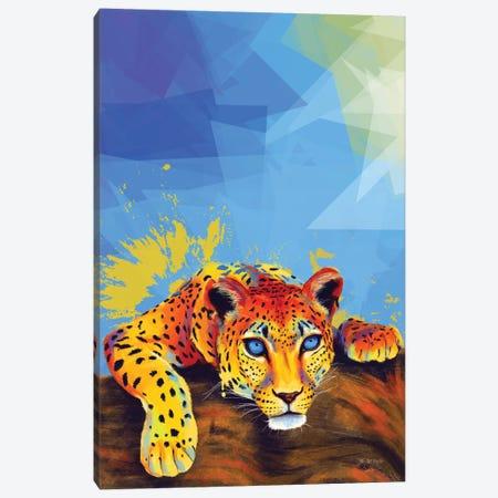 Tree Leopard Canvas Print #FAS35} by Flo Art Studio Art Print
