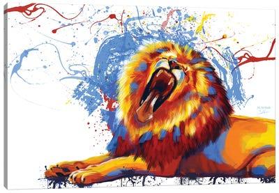Lion Yawn Canvas Art Print