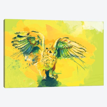 Silent Wings Canvas Print #FAS41} by Flo Art Studio Art Print