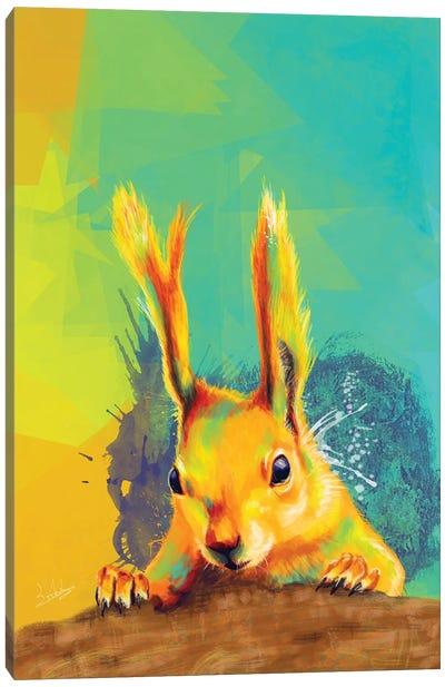 Tassel-Eared Squirrel Canvas Art Print
