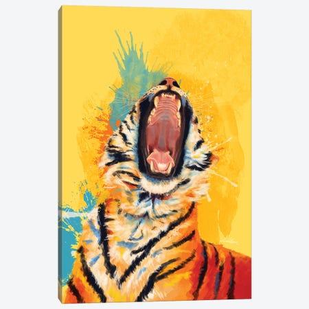 Wild Yawn Canvas Print #FAS49} by Flo Art Studio Art Print