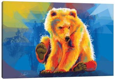 Play With A Bear Canvas Art Print