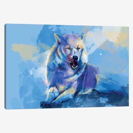 Awaken The Wolf Canvas Print #FAS54} by Flo Art Studio Canvas Print