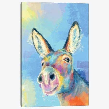 Carefree Donkey Canvas Print #FAS58} by Flo Art Studio Canvas Artwork
