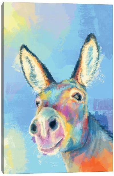 Carefree Donkey Canvas Art Print