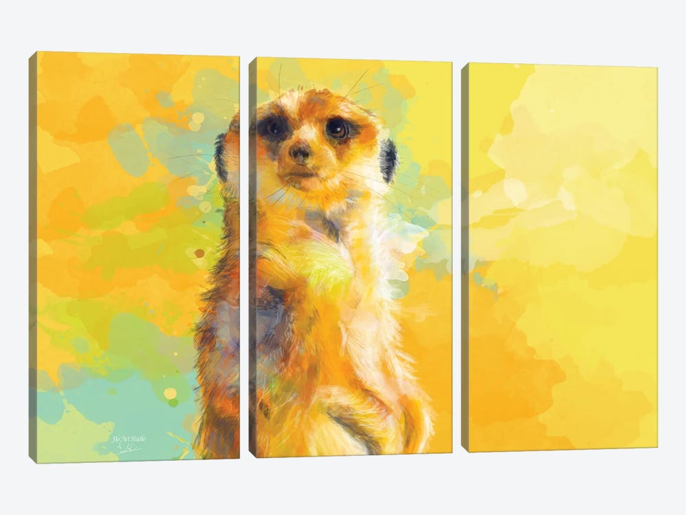 Dear Little Meerkat by Flo Art Studio 3-piece Canvas Print