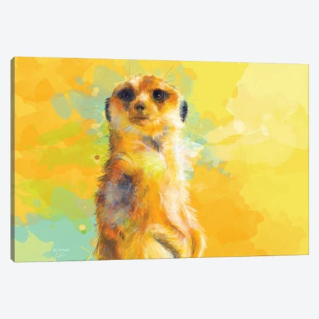 Dear Little Meerkat Canvas Print #FAS59} by Flo Art Studio Canvas Artwork