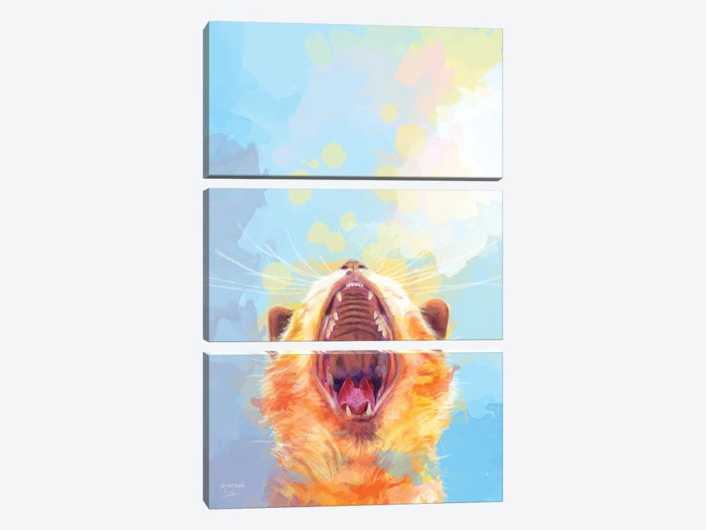 Rise and Shine Kitty by Flo Art Studio 3-piece Canvas Art