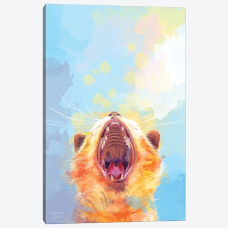 Rise and Shine Kitty Canvas Print #FAS61} by Flo Art Studio Canvas Print