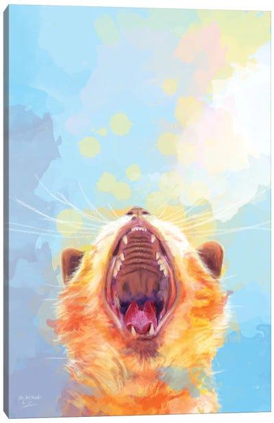 Rise and Shine Kitty Canvas Art Print