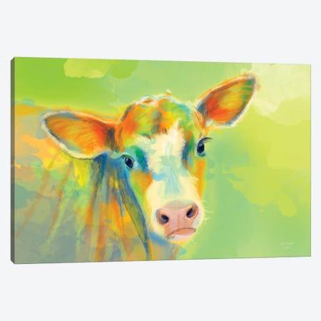 Summer Cow Canvas Print #FAS62} by Flo Art Studio Canvas Art Print