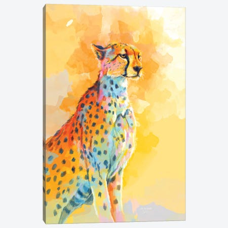 Cheetah Wild Grace Canvas Print #FAS63} by Flo Art Studio Canvas Art Print