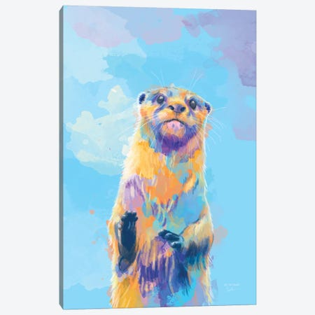 Mister Otter Canvas Print #FAS65} by Flo Art Studio Canvas Artwork