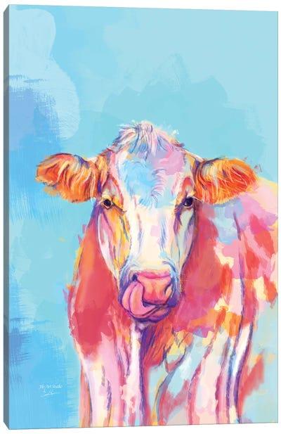 Whimsical Cow Canvas Art Print