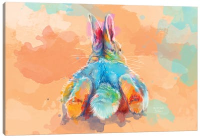 Bunny Butt Canvas Art Print