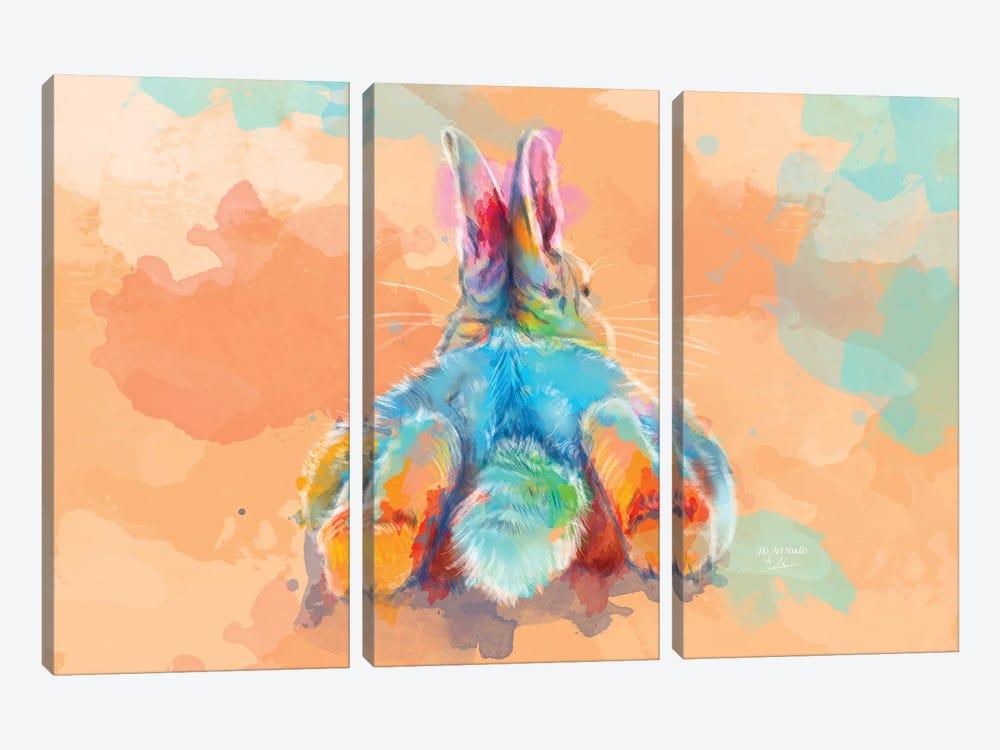 Bunny Butt by Flo Art Studio 3-piece Canvas Print