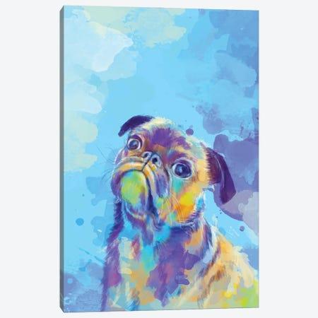 Sweet Pug Canvas Print #FAS69} by Flo Art Studio Canvas Print