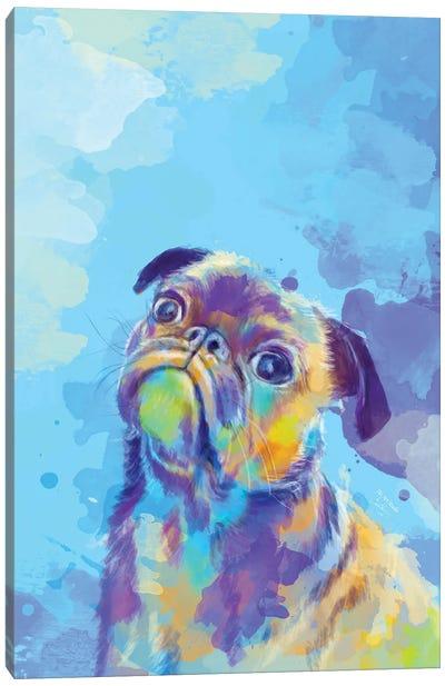 Sweet Pug Canvas Art Print