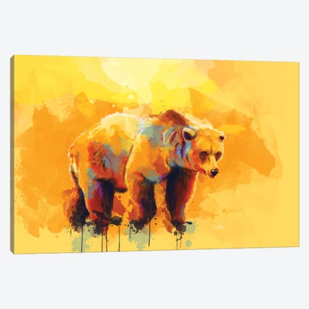 Bear Dream Canvas Print #FAS6} by Flo Art Studio Canvas Print