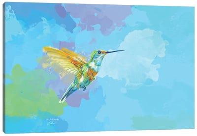 Tiny Wings, Strong Heart Hummingbird Painting Canvas Art Print