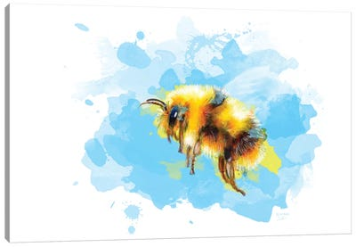 Bumble Away Bumble Bee Canvas Art Print