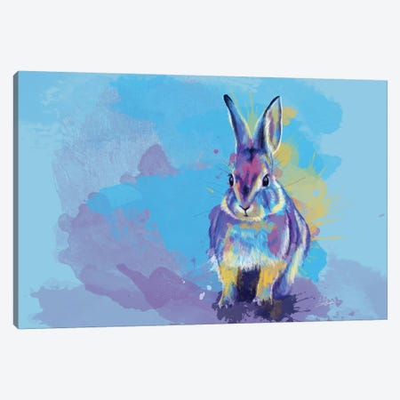 Bunny Dream Canvas Print #FAS9} by Flo Art Studio Canvas Wall Art