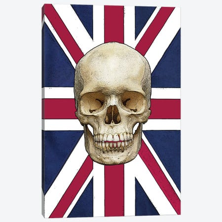 Skull With Union Jack Canvas Print #FAU146} by Eric Fausnacht Canvas Print