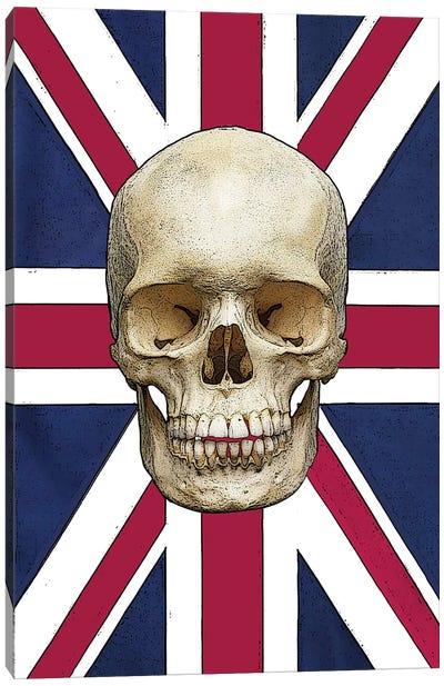 Skull With Union Jack Canvas Art Print