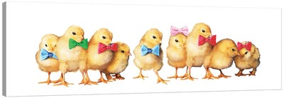 Chicks With Bow Ties Canvas Art Print