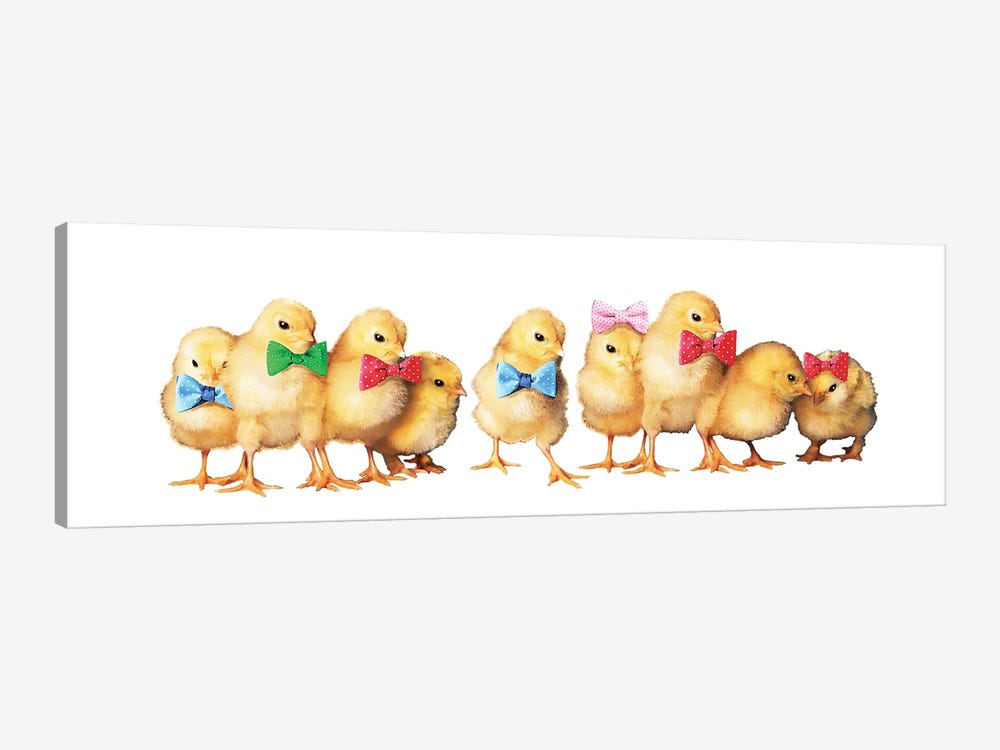 Chicks With Bow Ties by Eric Fausnacht 1-piece Canvas Art