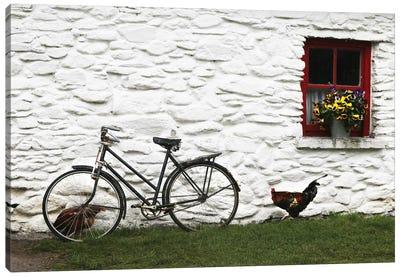Ireland Bike And Window Canvas Art Print