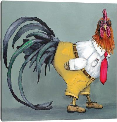 Nerd Rooster Canvas Art Print