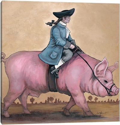 Piggy Back Rider Canvas Art Print