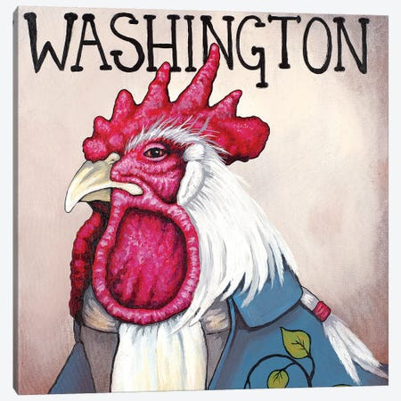 Washington Rooster Canvas Print #FAU31} by Eric Fausnacht Canvas Wall Art