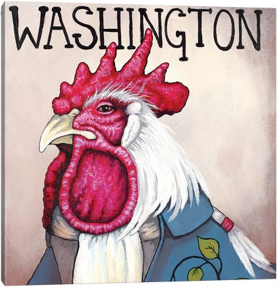 Washington Rooster Canvas Art Print