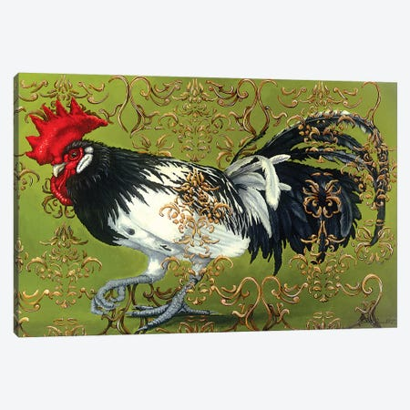 White Winged Rooster Canvas Print #FAU33} by Eric Fausnacht Canvas Art