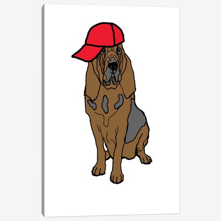 Bloodhound Canvas Print #FAU37} by Eric Fausnacht Art Print
