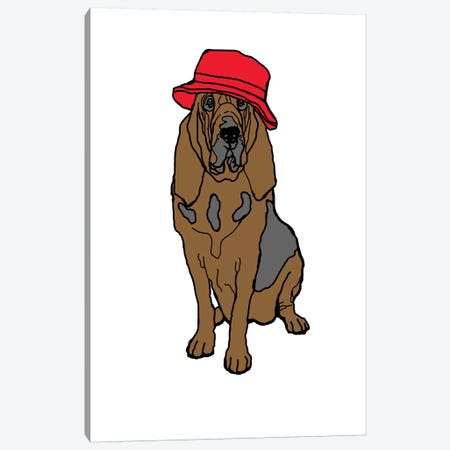 Bloodhound With Hat Canvas Print #FAU38} by Eric Fausnacht Canvas Art